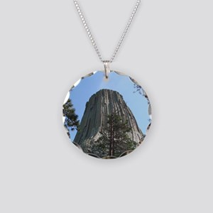Devils Tower Necklace Circle Charm