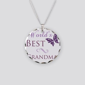 Butterfly_Grandma Necklace Circle Charm