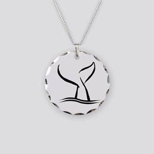 Whale Tail Necklace Circle Charm