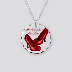 Wizard of Oz Red Ruby Slippers Necklace
