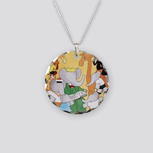 1978 Childrens Book Week Necklace Circle Charm