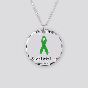 LungTransplantSaved Necklace Circle Charm