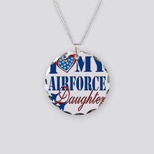 I Love My Airforce Daughter Necklace Circle Charm