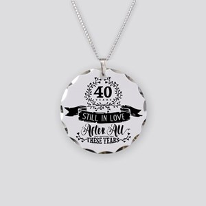 40th Anniversary Necklace Circle Charm