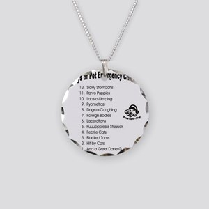 Pet ER Cropped Necklace Circle Charm