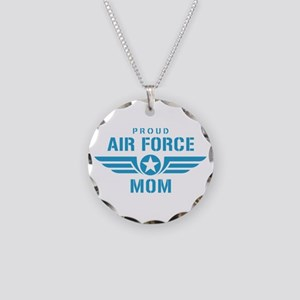 Proud Air Force Mom W Necklace Circle Charm
