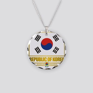 South Korea (Flag 10) Necklace Circle Charm