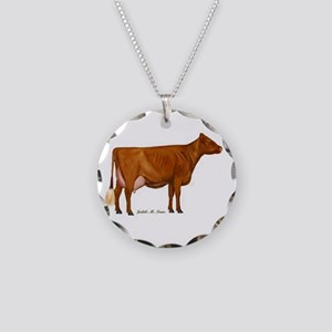 Shorthorn Trans Necklace Circle Charm