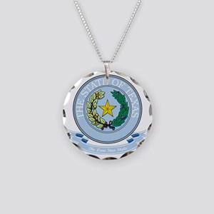 Texas Seal Necklace Circle Charm