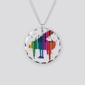 Paint Splash Piano Necklace