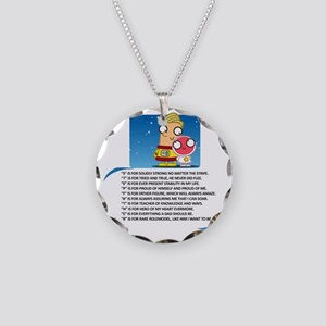 Stepdad Necklace Circle Charm