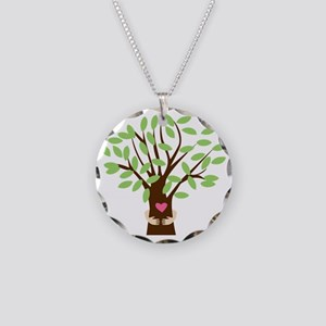 Tree Hugger Necklace Circle Charm