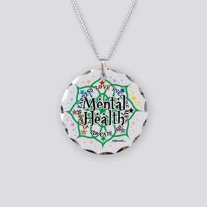 Mental-Health-Lotus Necklace Circle Charm