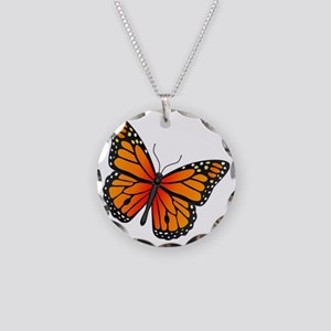 monarch-butterfly Necklace Circle Charm