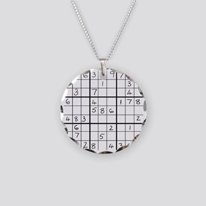sudoku easy1 Necklace Circle Charm