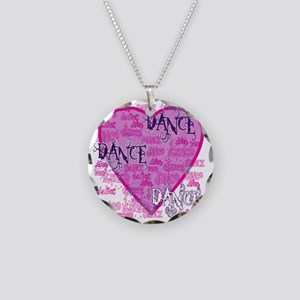 dance dance dance purple tex Necklace Circle Charm
