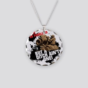 99 problems atv Necklace Circle Charm