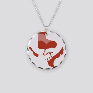 Texas-Love-W Necklace Circle Charm