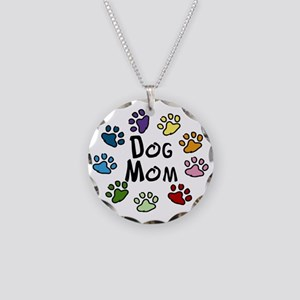 Dog Mom Necklace Circle Charm
