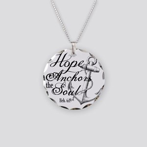 Hope Anchors the Soul Heb. 6 Necklace Circle Charm