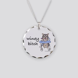 Swedish Vallhund Winey Bitch Necklace Circle Charm