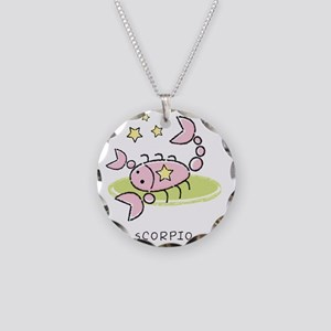 kidszodiacscorpio Necklace Circle Charm