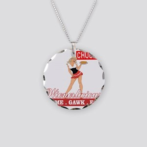 Wienerlicious Chuck TV Necklace Circle Charm