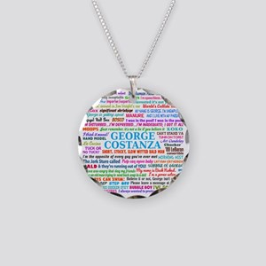 George Necklace Circle Charm