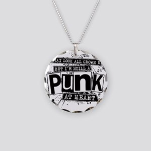 Punk At Heart Necklace Circle Charm