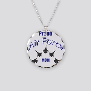 Proud Air Force MOM Necklace Circle Charm