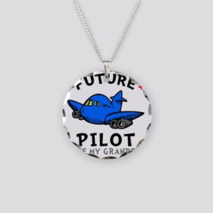 Pilot Grandpa Necklace Circle Charm