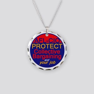 Collective Bargaining Necklace Circle Charm