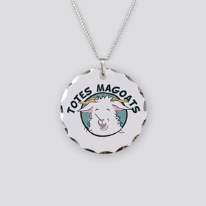 Totes MaGoats Necklace Circle Charm