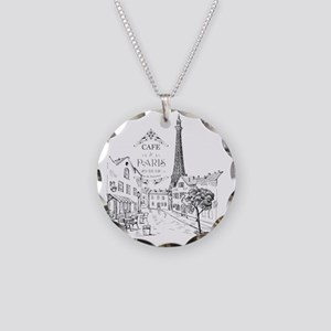 Cafe Paris Necklace Circle Charm