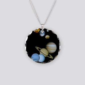 SOLAR SYSTEM Necklace Circle Charm