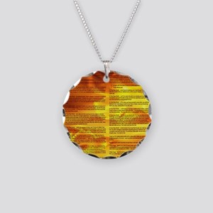 A World With CRPS - Memo Sty Necklace Circle Charm