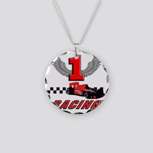 formula one racing car Necklace Circle Charm