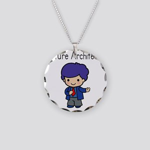 Boy Future Architect Necklace Circle Charm
