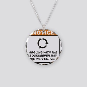 Bookkeeper_Notice_Argue_RK20 Necklace Circle Charm