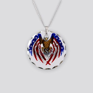 eagle2 Necklace Circle Charm
