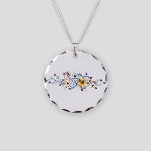 Heart and butterflies Necklace