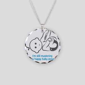 Yoga_HappyBaby_Blue Necklace Circle Charm