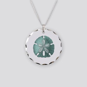 Sand Dollar Necklace Circle Charm