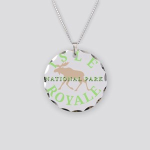 isleroyalenationalpark-white Necklace Circle Charm