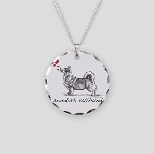 Swedish Vallhund Necklace Circle Charm