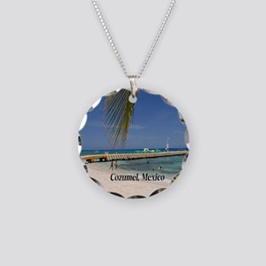 Cozumel Mexico Necklace Circle Charm