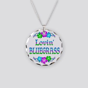 Lovin Bluegrass Necklace Circle Charm