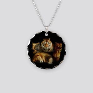 Wild Predators Necklace Circle Charm