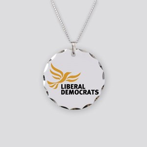Liberal Democrats Cir Necklace Circle Charm
