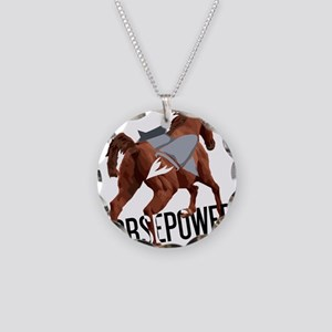 Horsepower Necklace Circle Charm